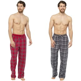 HT012A MENS CHECKED LOUNGE PANTS