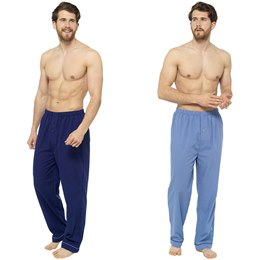 HT053 MENS 2 PACK POLY COTTON BOTTOMS WITH BUTTON FLY DETAIL