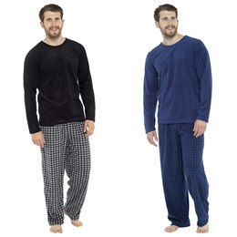 HT070 MENS FLEECE PYJAMA SET