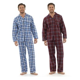 HT327 MENS TRADITIONAL FLANNEL CHECKED PJ'S