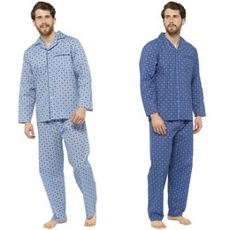 HT351 MENS PRINTED POLY COTTON TRADITIONAL PJ SET