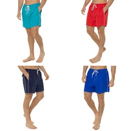 HT377 MENS PLAIN SWIM SHORTS
