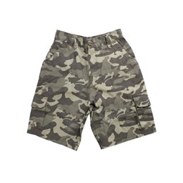 HT457A BOYS CAMO COTTON CARGO SHORTS