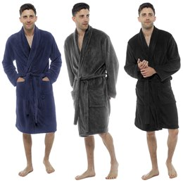 HT501C MENS FLEECE GOWN