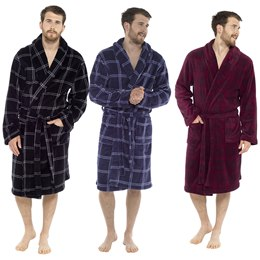 HT502B MENS CHECK PRINT SUPERSOFT ROBE