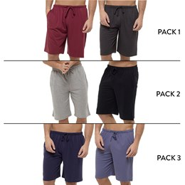 HT565 MENS 2 PACK JERSEY LOUNGE SHORT