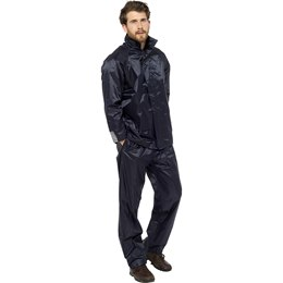 JK507A ADULTS WATERPROOF JACKET - NAVY