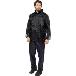 JK508A ADULTS WATERPROOF JACKET - BLACK