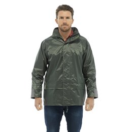 JK509A ADULTS WATERPROOF JACKET - OLIVE