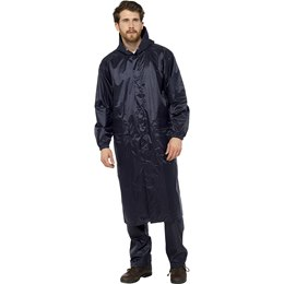 JK515A ADULTS LONG NAVY WATERPROOF JACKET