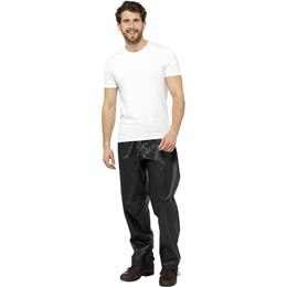 JK520A ADULTS WATERPROOF TROUSERS - BLACK