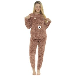 LN1019 LADIES NOVELTY FLEECE BEAR PYJAMA