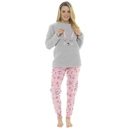 LN1020 LADIES NOVELTY FLEECE BUNNY TWOSIE