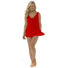 LN1069 LADIES V NECK RUFFLE SWIMDRESS WITH SCOOP BACK (20)