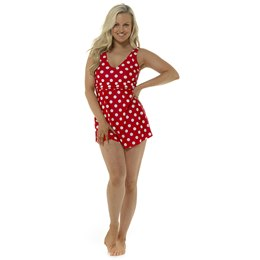 LN1089 LADIES SPOT PRINT SWIMDRESS