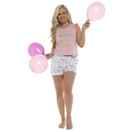 LN1188 Ladies Bride Tribe Pyjama Short Set