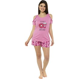 LN1200 Ladies ''Donut Disturb'' Jersey Shorts PJ Set