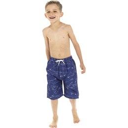 Tom Frank Boys Shark Print Swim Shorts