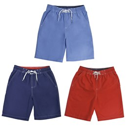 LN133 BOYS SWIMSHORTS WITH CONTRAST COLOUR INNER WAISTBAND