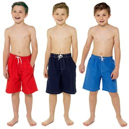 LN133A BOYS PLAIN SWIMSHORTS