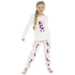 LN188 KIDS LLAMA FLEECE PYJAMA SET
