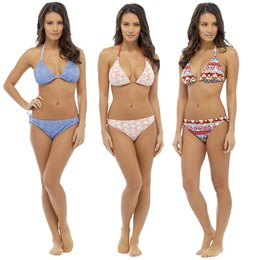 LN408 LADIES CROCHET BIKINI WITH AZTEC PRINT