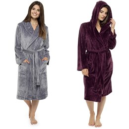 LN425B LADIES LUXURY MOLESKIN ROBE