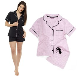 LADIES JERSEY BUTTON THROUGH PJ SET 75f09cae7