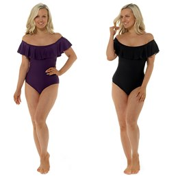 LN759 LADIES BARDOT SWIMSUIT