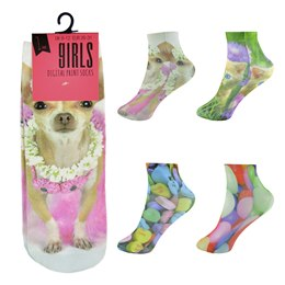 SK332 GIRLS DIGITAL PRINT SOCKS