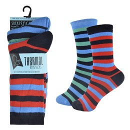 SK374 BOYS 2 PACK THERMAL DESIGN SOCK