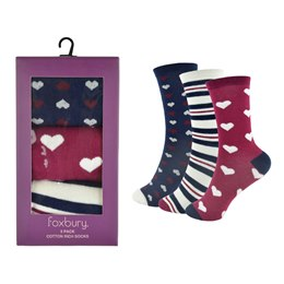SK510 LADIES 3 PACK BOXED SOCKS