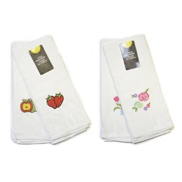 TC088 2 PACK EMBROIDERY DESIGN WAFFLE T-TOWELS