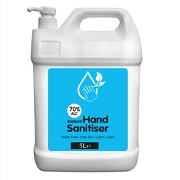 XX_R_RC5000WH Hand Sanitizer - WHITE - 5 litre - 70% Alcohol Content