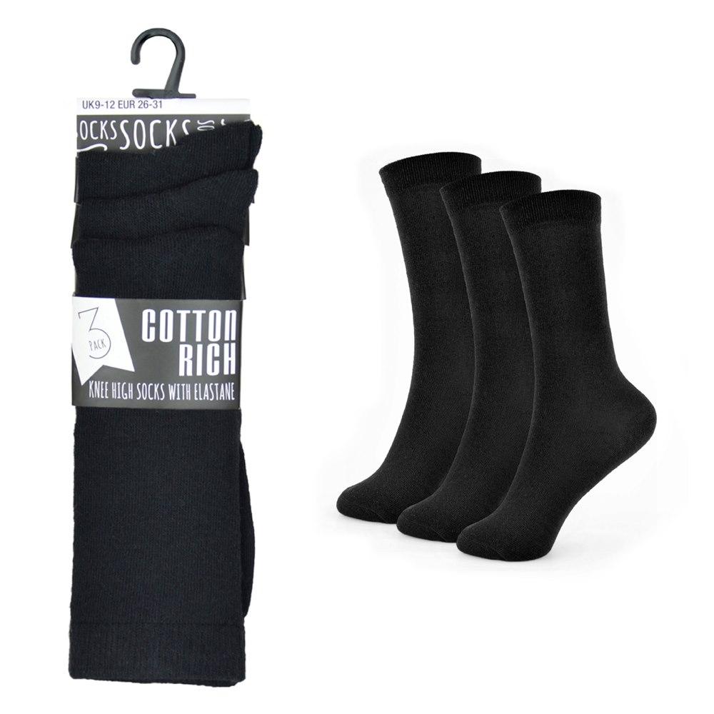 RJM 3 Pack Girls Knee High Socks with Bow